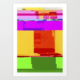Databent Floppy Disks #2 Art Print
