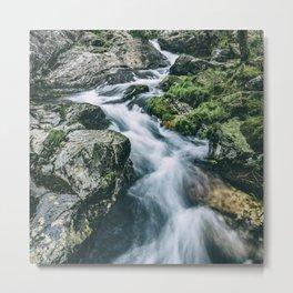 Wild river in Europe mountains Metal Print