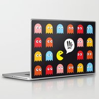 pac man Laptop & iPad Skins featuring Pac-Man Trapped by Psocy Shop