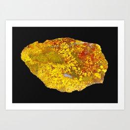 Cady Mountain Yellow Plume Agate Art Print