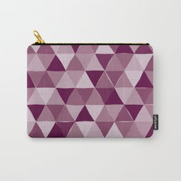 Purple Triangles Carry-All Pouch