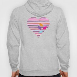 multicolored stripes pattern with leaves Hoody