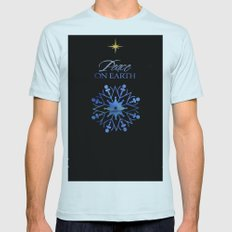 Peace on Earth Light Blue Mens Fitted Tee SMALL