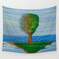 island Wall Tapestries featuring Island by Steve Hester