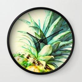 Green Pineapple Wall Clock