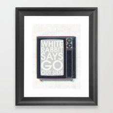 Go Out Side Framed Art Print