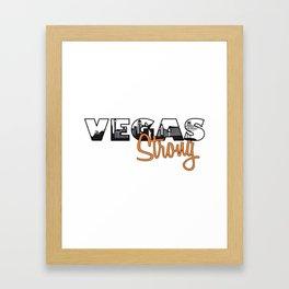 Vegas Strong Framed Art Print