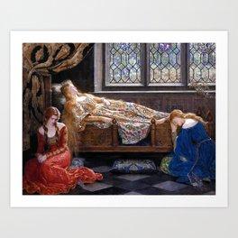 John Collier The Sleeping Beauty Art Print