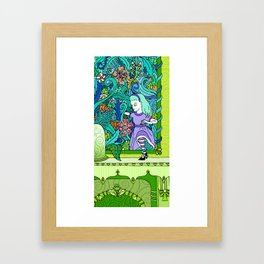 TOXIC LOOKING GLASS- ALICE IN WONDERLAND Framed Art Print