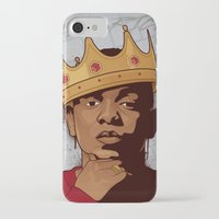 kendrick lamar iPhone & iPod Cases featuring King Kendrick by Gagegfx