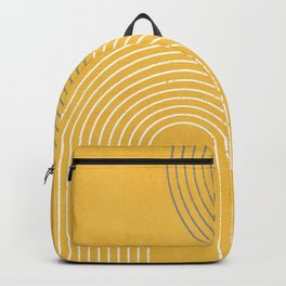 Golden Minimalist Abstract Backpack