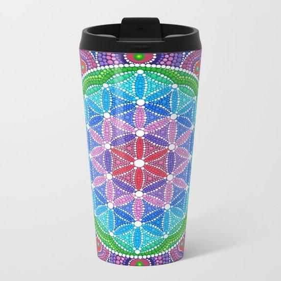 Lotus Flower of Life Metal Travel Mug