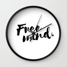 QOUTE Free Mind Wall Clock