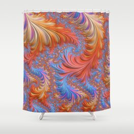 vibrant fractal Shower Curtain