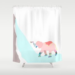 elephant shower Shower Curtain