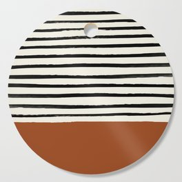 Burnt Orange x Stripes Cutting Board