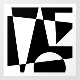 Black & White Abstract I Art Print