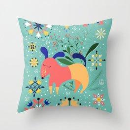 Happy Dog Card Throw Pillow