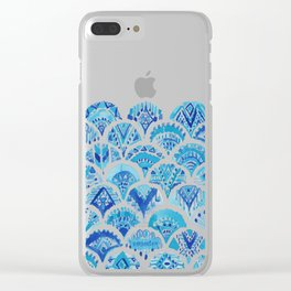 AZTEC MERMAID Tribal Scallop Pattern Clear iPhone Case
