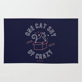 One Cat Shy of Crazy – Blush & Denim Palette Rug