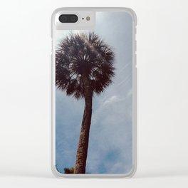 Dandelion Palm Clear iPhone Case