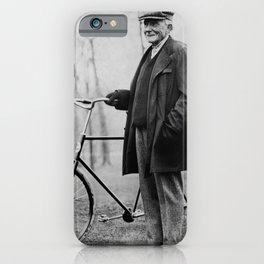John D. Rockefeller with Bicycle - 1913 iPhone Case