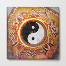 Yin Yang - Healing Of The Orange Chakra Metal Print