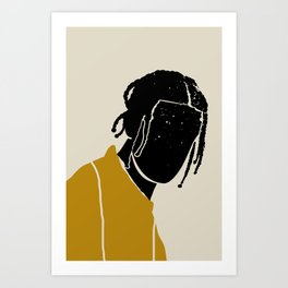 Black Hair No. 1 Art Print