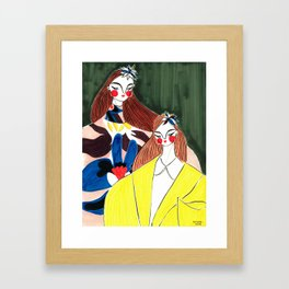 Portrait of the Birds – Delpozo Girls in Fall 2018 Looks no. 2 – Fashion Illustration Framed Art Print
