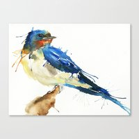 swallow Canvas Prints featuring Swallow by Meg Ashford