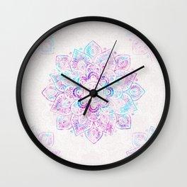 Winter Fiery Mandala Wall Clock