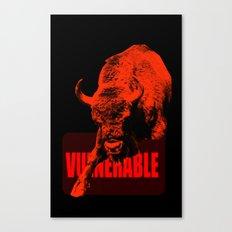 Vulnerable European Bison Canvas Print