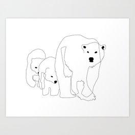Love Them Bears Art Print