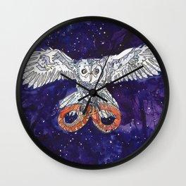 Owl & Snake Wall Clock