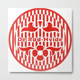 Denmark De Rød-Hvide (The Red-White) ~Group C~ Metal Print