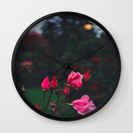 Romantic Roses Wall Clock