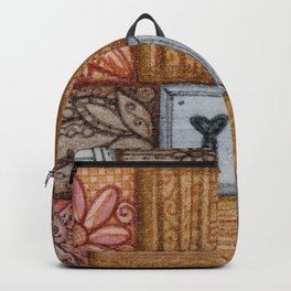 Patchwork Tiles Grains and Metal Backpack