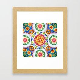 pop flowers Framed Art Print