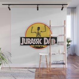Jurassic Dad Dinosaur Skeleton Funny Birthday Gift 2 Wall Mural