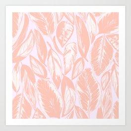 Calathea pale Art Print