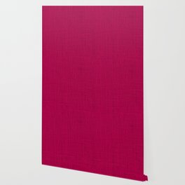 Natural Woven Hot Pink Burlap Sack Cloth Wallpaper