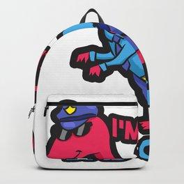 Dino police saying children gift Backpack