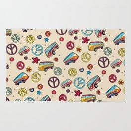 Retro  Hippie  Pattern 2 Rug