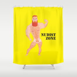 Nudist Zone Shower Curtain