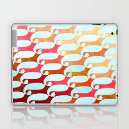 Blue Whale & Red Fox Laptop & iPad Skin