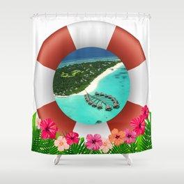 Maldives Getaway Shower Curtain