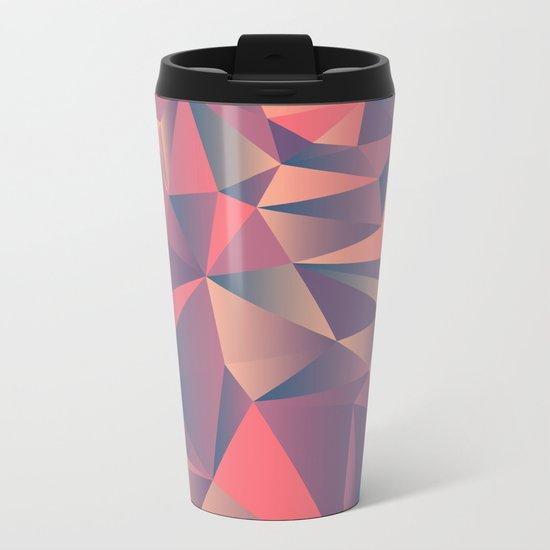 pink purple vintage color geometric Metal Travel Mug