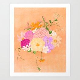 Boho Bouquet Art Print