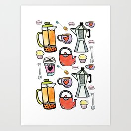 Coffee + Tea Art Print