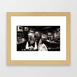The Courtship of Han and Leia Framed Art Print